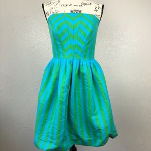 Lilly Pulitzer Strapless Striped Dress Size 10